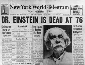 EINSTEIN DEATH - 1955